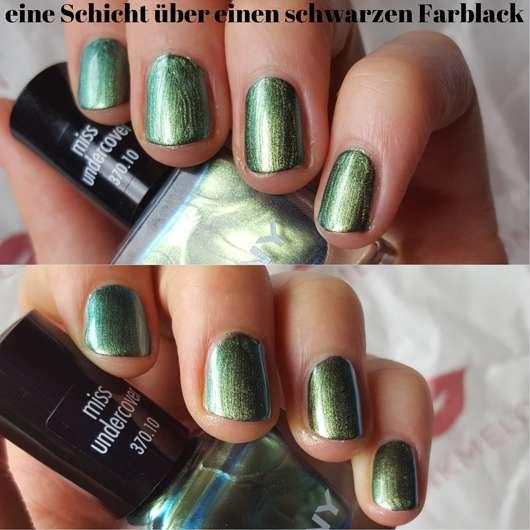 ANNY Nagellack, Farbe: 370.10 miss undercover (LE) - Eine Schicht über schwarzen Farblack
