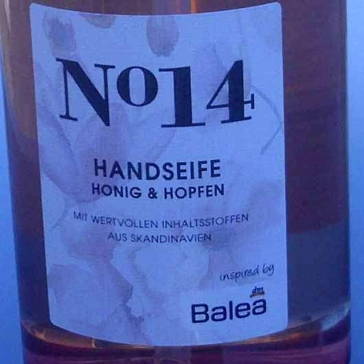 Balea Handseife No. 14 Honig & Hopfen - Flasche Details