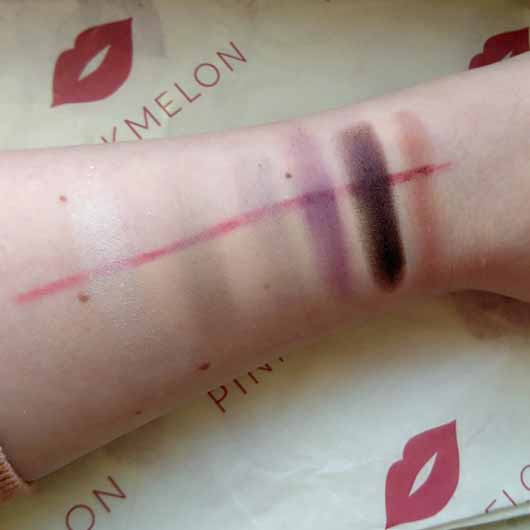 BeYu Be Outstanding Eyeshadow Palette, Farbe: 1 Purple Me On (LE) - Swatches