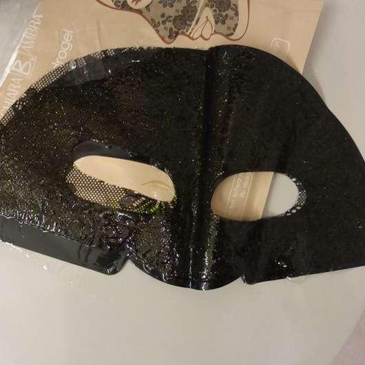 der obere Teil der CHIARA AMBRA Straffende Hydrogel Gesichtsmaske ausgepackt