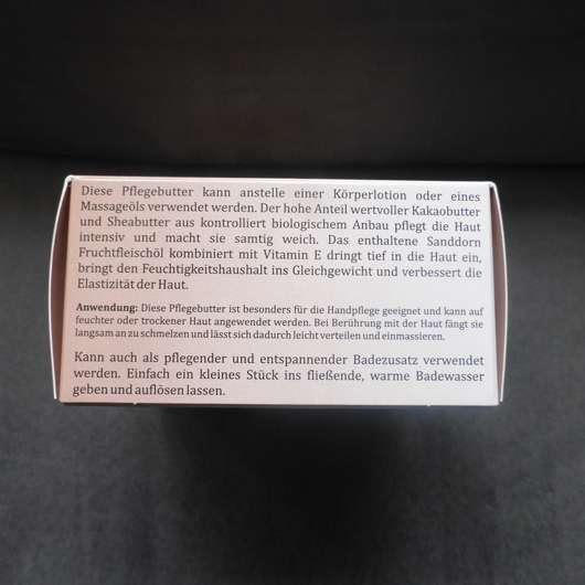 Seitenansicht der Verpackung - CMD Pflegebutter Hand Ei Sandorini