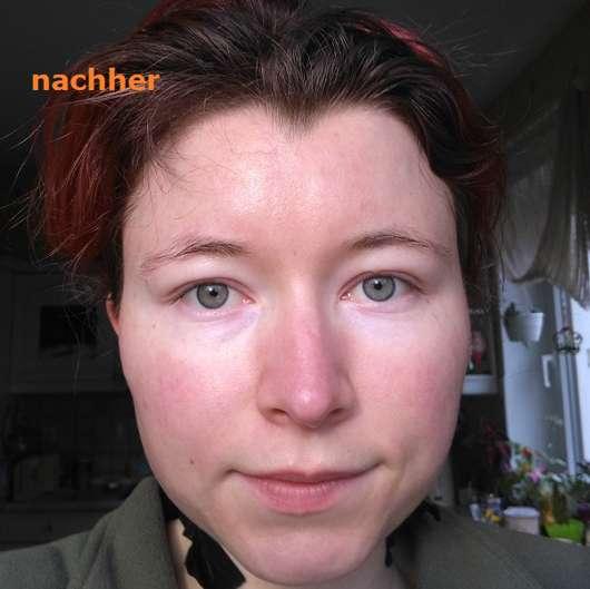 Haut nach dem Test der Garnier SkinActive Schwarze Tuchmaske mit Bambuskohle