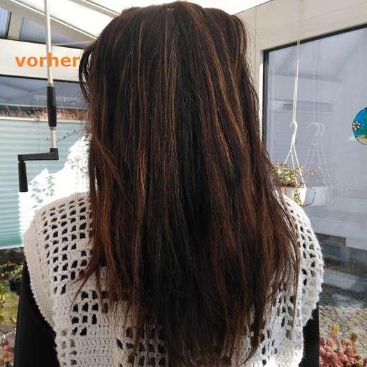 Haare vor der Anwendung des GUHL Repair & Balance Shampoos Manuka-Honig & Milch