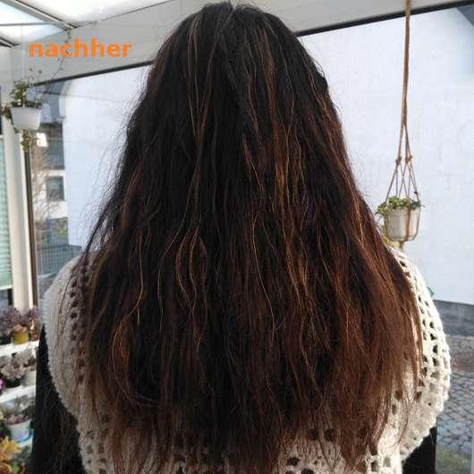 Haare nach der Anwendung des GUHL Repair & Balance Shampoos Manuka-Honig & Milch