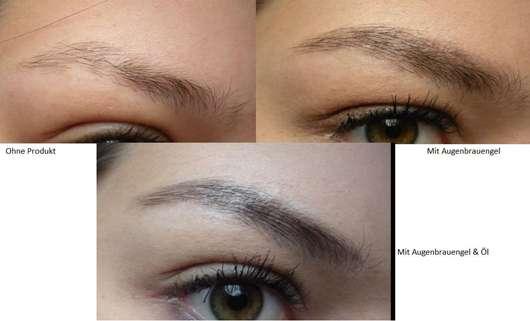 Tragebilder ohne/mit L.O.V BROWaffair Grooming Eyebrow Gel & Oil, Farbe: 120 Powerful Ebony