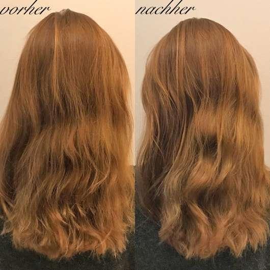 Haare vor/nach der Anwendung - LANGHAARMÄDCHEN Haaröl Intense Repair