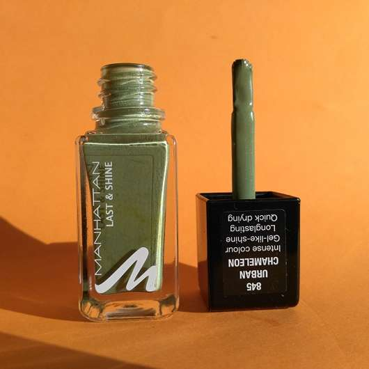 Pinsel des Manhattan Last & Shine Nail Polish, Farbe: 845 Urban Chameleon