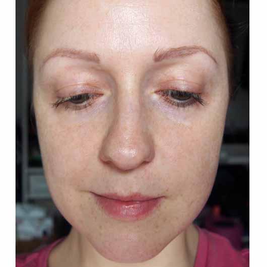 The Beauty Mask Company Strahlkraft Tuchmaske - Gesicht nach der Anwendung