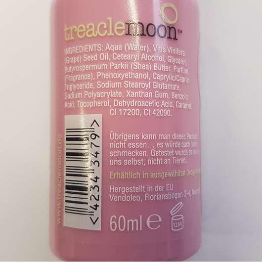 Verpackungsrückseite - treaclemoon spiced plum custard Körpermilch (LE)