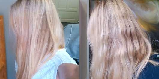 Haare vor/nach dem Test des White Mineral Daily Protecting Shampoos