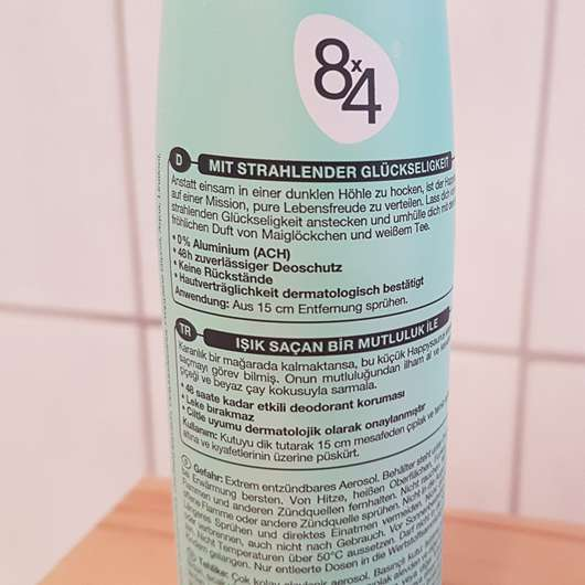 Verpackungsrückseite - 8×4 smile like a happysaurus Deodorant Spray (LE)