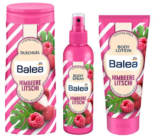Balea Sommer Limited Edition 2018 - Duftrichtung Himbeere und Litschi