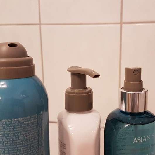 Dosieröffnungen der drei Produkte aus dem ARTDECO SENSES ASIAN SPA Skin Purity Körperpflege Set
