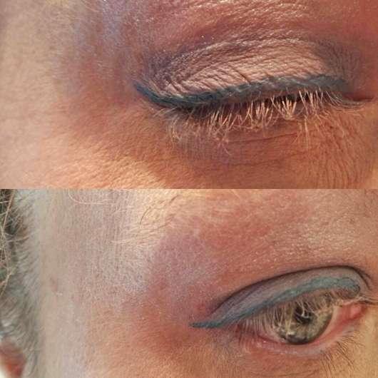 Tragebilder am Auge - ARTDECO x Claudia Schiffer Make Up Liquid Eye Liner, Farbe: 22 Electric