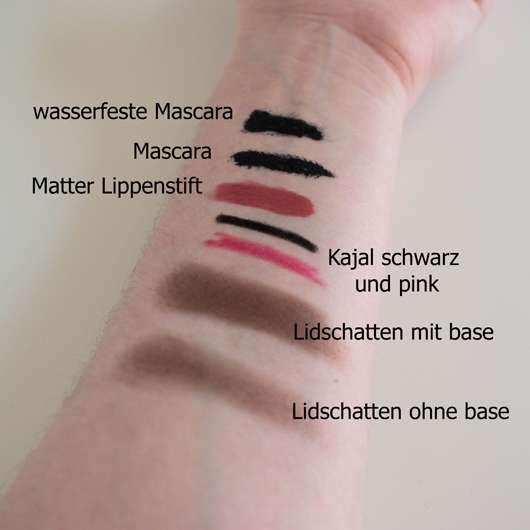 Verschiedene Kosmetikprodukte auf die Probe gestellt