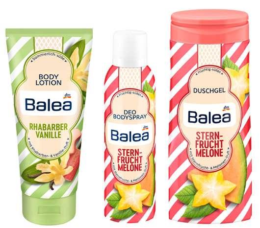 Balea Sommer Limited Edition 2018 - Duftrichtung Sternfrucht und Melone sowie Rhabarber Vanille