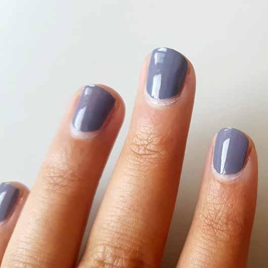 essence the gel nail polish, Farbe: 87 gossip girl - Farbe nach 3 Tagen