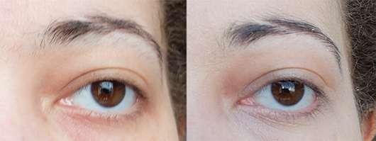 Augenbrauen vor- und nach dem Zupfen mit den for your Beauty Cosmetic Mini Pinzetten