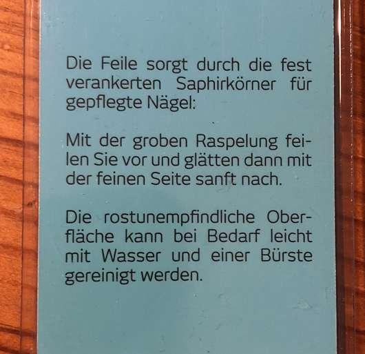 for your Beauty Saphirfeile - Herstellerangaben