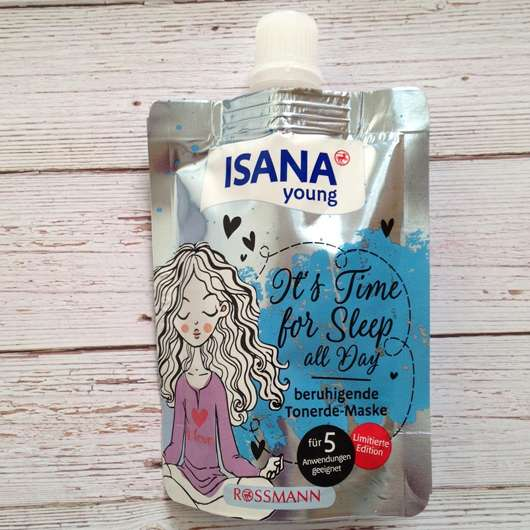 ISANA YOUNG It's Time for Sleep All Day beruhigende Tonerde-Maske (LE) - Verpackung