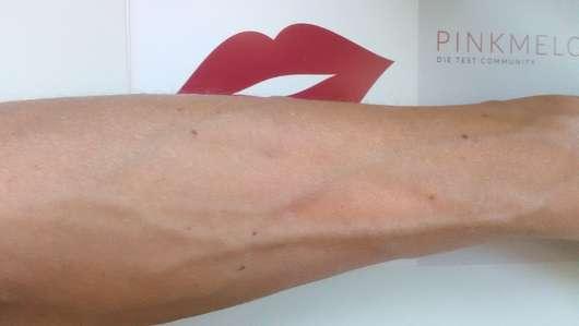 eingecremte Haut mit der Lavozon Sonnenmilch LSF 30