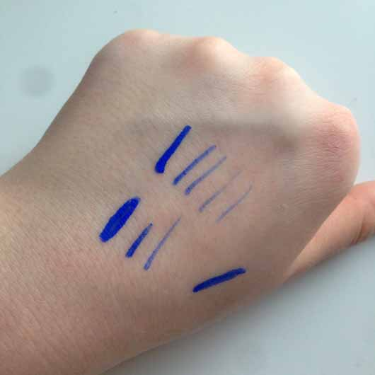 Misslyn what the shell! vivid color liner, Farbe: 8 luna lagoona (matte) - Applikator - Swatch