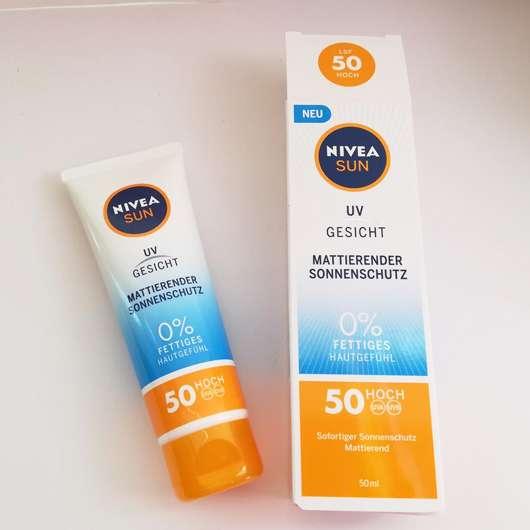 NIVEA SUN UV Gesicht Mattierender Sonnenschutz LSF 50