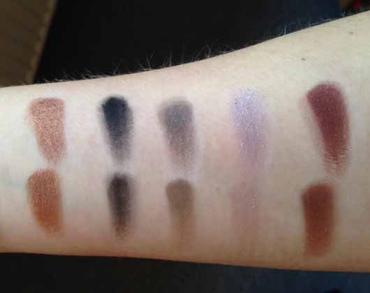 Urban Decay Distortion Eyeshadow Palette - Swatches der Farben