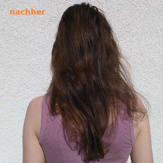 Haare nach 4-wöchigem Test der alverde Glanz Haarkur Bio-Rohrzucker