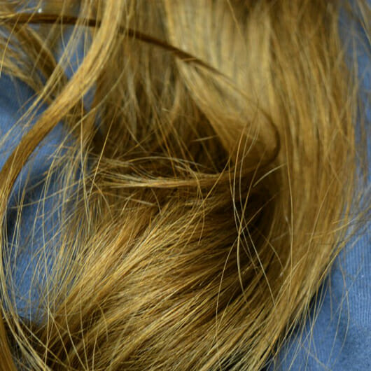 Haare zu Testbeginn - alverde Glanz Haarkur Bio-Rohrzucker