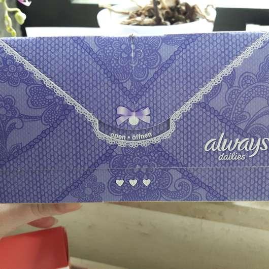 always Fresh & Protect Slipeinlagen Normal  - Verpackung von oben