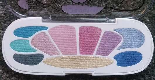 essence mermaid eyeshadow box, Fareb: 03 my shell is my castle - Palette geöffnet