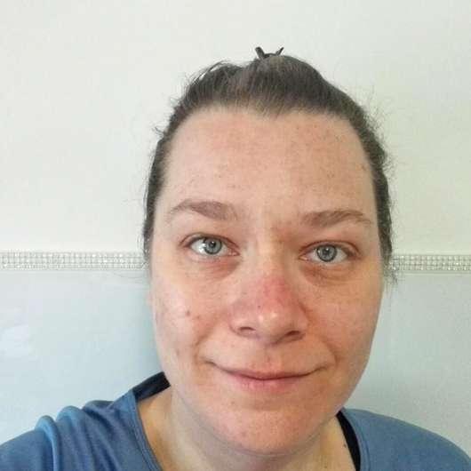 Haut nach dem Test der everdry Antibakterielle Gesichtslotion