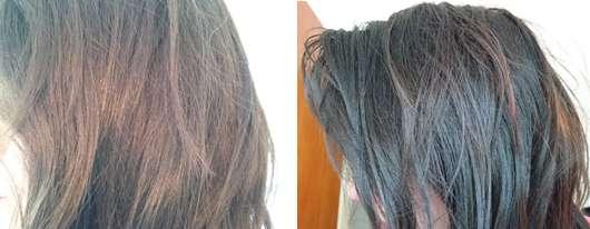 Haare ohne/mit HASK Hawaiian Sea Salt Making Waves Texture Spray