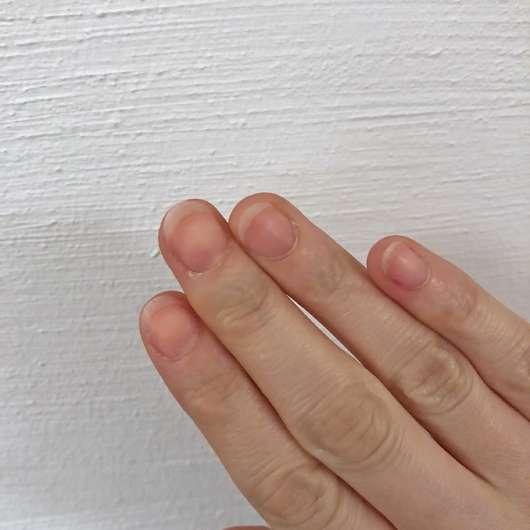 nach dem Entfernen des Nagellacks mit dem KIKO Nail Polish Remover Express