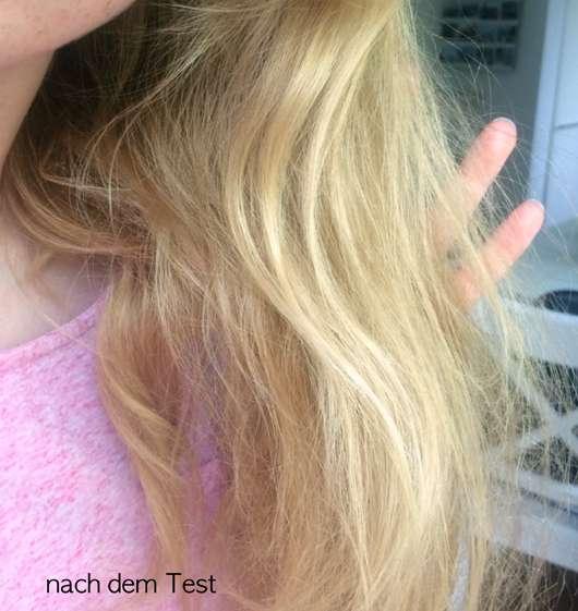 Haare nach dem Test der LANGHAARMÄDCHEN Silver Blond Haarmaske