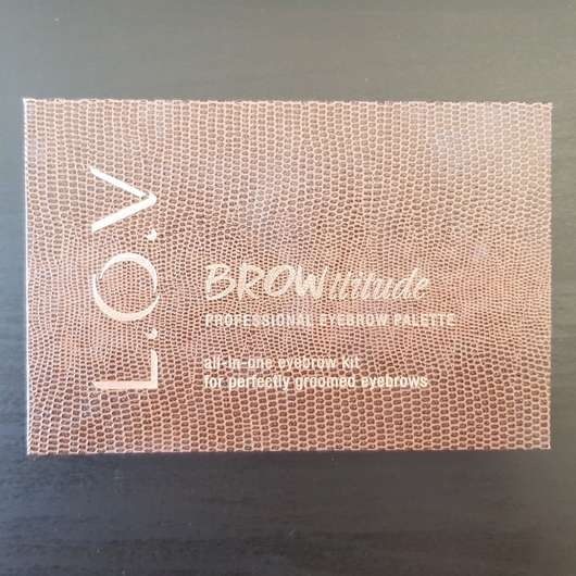 L.O.V BROWttitude Professional Eyebrow Palette, Farbe: 510 Brunette Perfection
