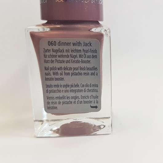 Verpackungsrückseite - p2 nude benefit polish, Farbe: 060 dinner with Jack