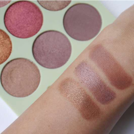 Swatches unterste Reihe - Pixi Eye Reflections Shadow Palette, Farbe: Mixed Metals