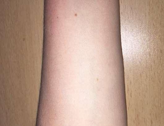 Haut vor dem Test des St.Tropez Gradual Tan 1 Minute Everyday Pre-Shower Tanning Mousse