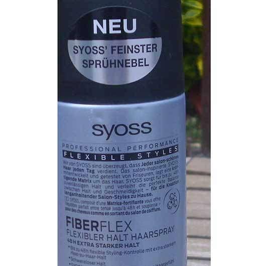 SYOSS Fiber Flex Flexibler Halt Haarspray - Dose Rückseite