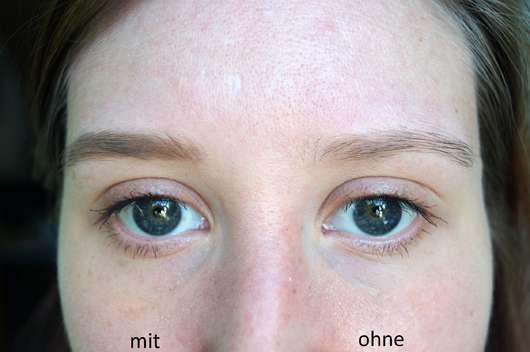 alverde Augenbrauenpomade, Farbe: Ash Taupe - Augenbraue mit und ohne Produkt