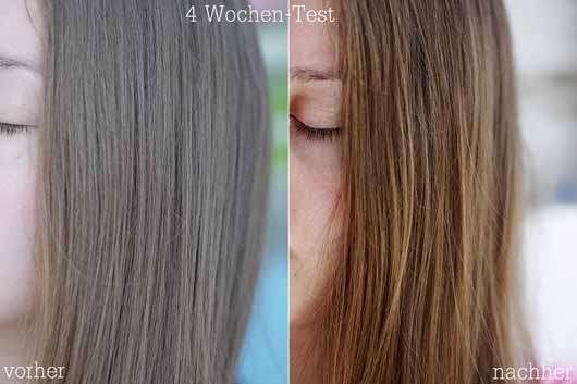Vorher-Nachher-Effekt der Haare