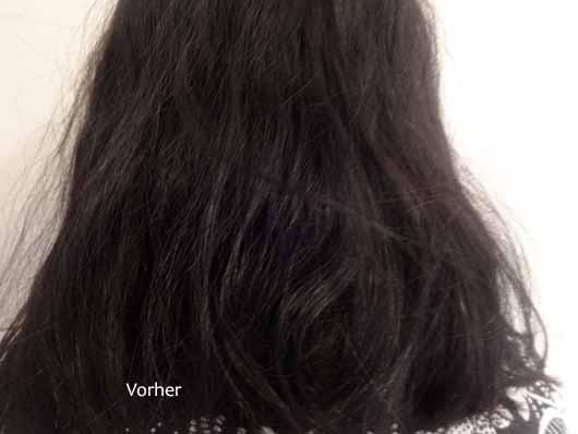 alverde Glanz Haarkur Bio-Rohrzucker - Haare vorher