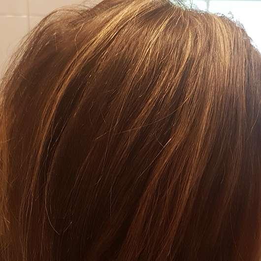 alverde Glanz Haarkur Bio-Rohrzucker - Haare vor der Anwendung