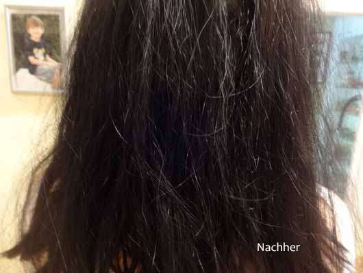 alverde Glanz Haarkur Bio-Rohrzucker - Haare nachher