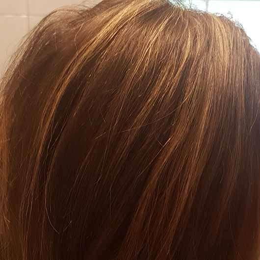 alverde Glanz Shampoo Bio-Rohrzucker - Haare nach der Anwendung