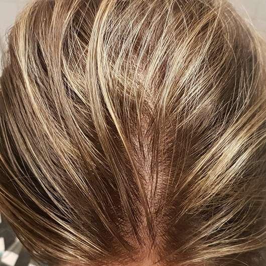 alverde Glanz Sprühkur Bio-Rohrzucker - Frisch gewaschene, getrocknete Haare – nach Anwendung des Sprays