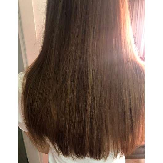 alverde Glanz Spülung Bio-Rohrzucker - Haare vor der Anwendung