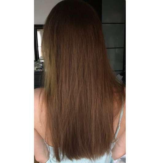 alverde Glanz Spülung Bio-Rohrzucker - Haare nach der Testphase